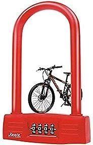AriTan Bicycles U Lock, Heavy Duty Bike Scooter Motorcycles Password Lock Gate Lock for Anti Theft