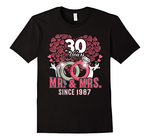 Mens 30th Wedding Anniversary Tee 30th Anniversary Gifts Parents XL Black (Gifts For Parents 30th Anniversary)