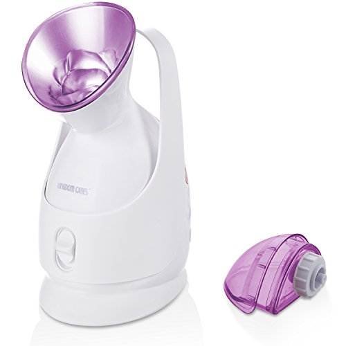 Price comparison product image Facial Steamer KINGDOMBEAUTY Hot Mist Moisturizing Unclogs Pores Clear Blackheads Acne steamer Purple
