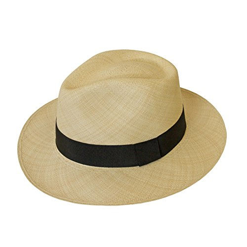 Tumia - Fino Avocado Panama - Premium Quality - Natural with Black Band. 60cm. by Tumia Panama Hats