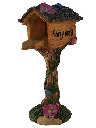GlitZGlam Miniature Fairy Mailbox for The Enchanted Garden - A Fairy Garden Accessory