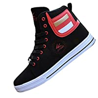 Gaorui Lot Fashion Men Casual Shoe High Top Sport Outdoor Athletic Running Sneaker Boot Black