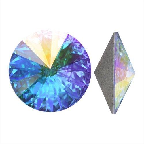 (Swarovski Crystal, #1122 Rivoli Fancy Stones 12mm, 4 Pieces, Crystal AB Sf)