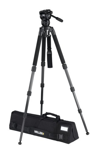 Miller 2020 Compass 15 Solo DV 3 CF Tripod (Black) by Miller Camera Support LLC USA