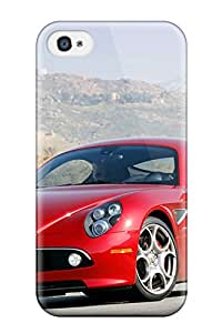 Unique Design Iphone 4/4s Durable Tpu Case Cover Alfa Romeo Usa 35