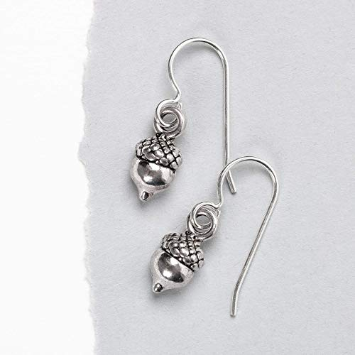 Tiny Sterling Silver Acorn Earrings ()