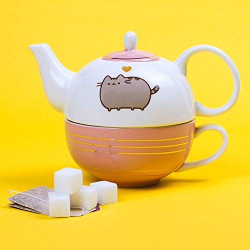 Official Licensed Pusheen Tea For One Teapot and Mug Set