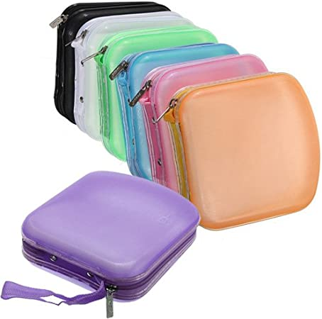 Estuche organizador con bolsas, caja de plástico para 40 CD / DVD, varios colores a elegir.: Amazon.es: Hogar