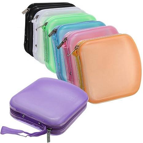 Estuche organizador con bolsas, caja de plástico para 40 CD ...