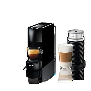 Breville-Nespresso USA BEC250BLK1AUC1 Nespresso Essenza Mini Expresso Machine, Aeroccino Bundle One Size, Black