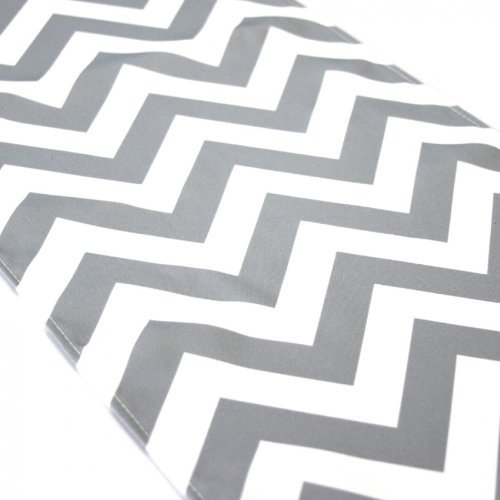 lovemyfabric Crazy About Chevron Design Cotton Table Runner For Wedding/Bridal Shower, Birthdays/Baby Shower, Dinner & Special Events (12