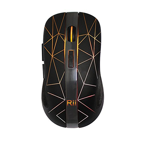 Rii RM200 Wireless Mouse, 1600DPI 5 Buttons Rechargeable Mouse, with Colorful LED Lights Game Computer Mice-Black post thumbnail