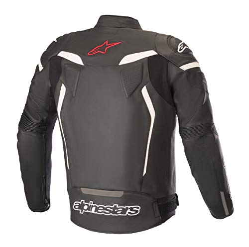 Alpinestars Men's GP Plus R V2 Air Flow Leather Motorcycle Riding Jacket (Black/Red/Fluorecent, 48)