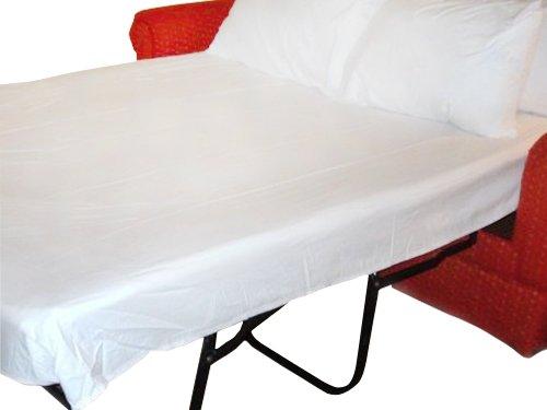 (Queen Sleeper Sofa Bed Sheet Set White 200 Thread Count (60