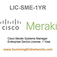 Cisco Meraki Systems Manager Enterprise Device License, 1 Year, Electronic Delivery