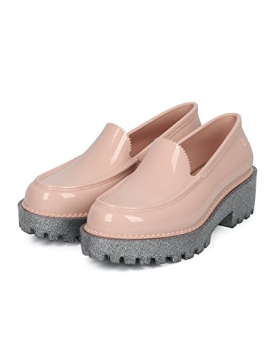 Melissa Femme Mocassins Jelly - Glitter Lug Semelle Slip Sur Creeper - Mode Trendy Fun Plate-forme Chaussure - Panapana By Pink