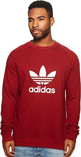 Adidas Terry Pullover (adidas Originals Men's Trefoil Crew Sweatshirt Rust Red X-Large)