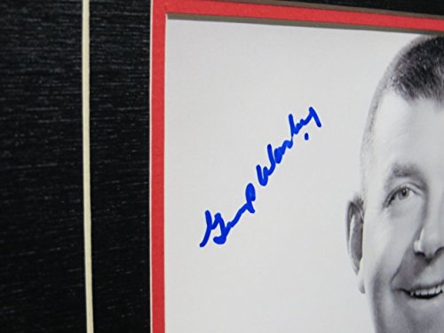 Lorne ôGumpö Worsley Custom Framed Autographed 8X10 Authentic w/COA