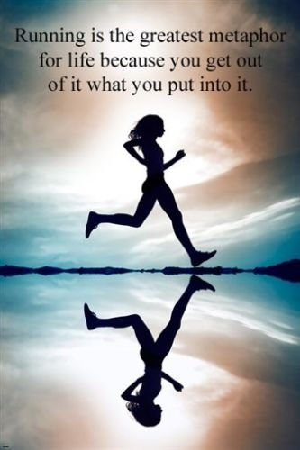 Amazon.com: WOMAN RUNNING inspirational poster 24X36 motivating ...