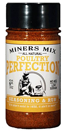 Miners Mix Poultry Perfection Seasoning Rub for Oven Roasted, Smoked or Grilled Turkey, Goose, Duck,...