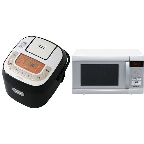 マイコン式 炊飯器 3合+電子レンジ 22L ホワイト   B076Q9VSD7