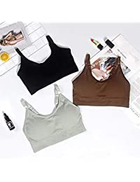 2 Pieces Summer Tube Top Women Lingerie Tank Top 6 Colors Sexy Bras for Women Tube Tops 2019 New Bandeau top (Color : Random 2 Pieces, Size : Free Size)