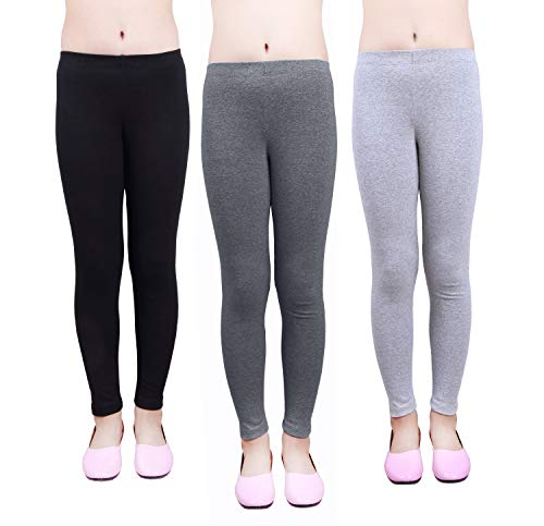 - IRELIA Girls Leggings 3 Pack Cotton Solid Size 4-16 Spring/Fall 07 S
