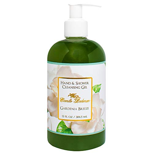 (Camille Beckman Hand and Shower Cleansing Gel, Gardenia Breeze, 13 Ounce)