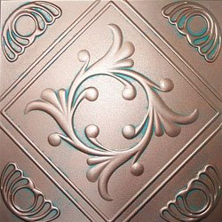 ceiling tile faux like tin anet antique copper patina