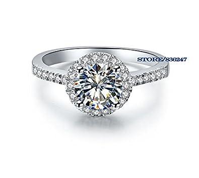 K Design 1 Ct Synthetische Diamant Ringe Sterling Silber Ringe