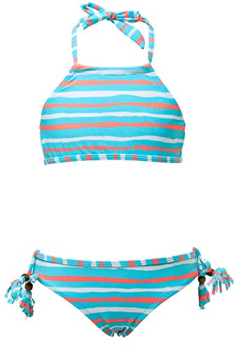 Snapper Rock Girls' Halter Bikini Orange Crush 10