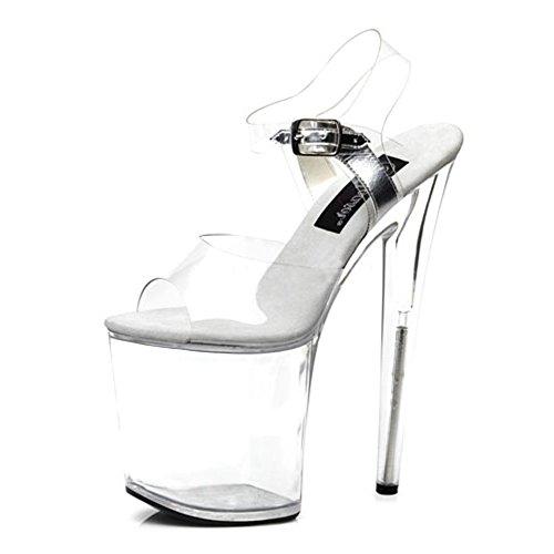 Heels-Perfect - Zapatos de vestir de material sintético para mujer transparente transparente transparente - transparente