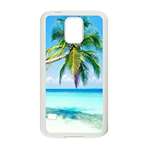 Generic Case Tropical Paradise Beach And Palm Tree For Samsung Galaxy S5 W3Q8918250