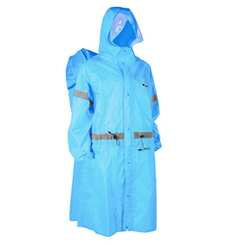 TRIWONDER Reflective Backpack Rain Poncho Hiking Raincoat Rain Cape for Outdoor Backpacking Travel Camping