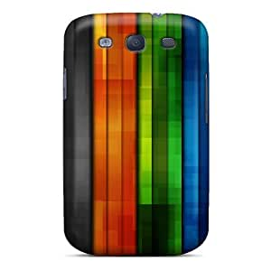 New Style Case Cover MBs14385Tqod Rainbow Lines Compatible With Galaxy S3 Protection Case