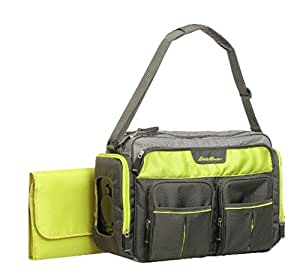 Eddie Bauer Easy Access Duffle Diaper Bag - Black/Lime