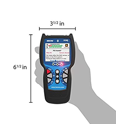 Innova 3150f is a handheld scan tool that has a portable design
