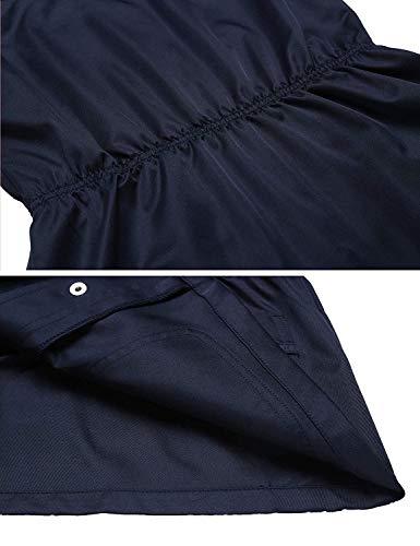 Femme Sans Unie Manteau Fit Outerwear Blouson Gilet Manches Couleur Marineblau Printemps Fashion Slim Loisir Style Spécial Elégante Automne Revers q5wCwd