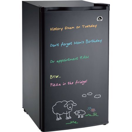 : Igloo 3.2 cu. ft. Eraser Board, Flush-Back Design Mini Refrigerator, Model:FR326M-C-Black