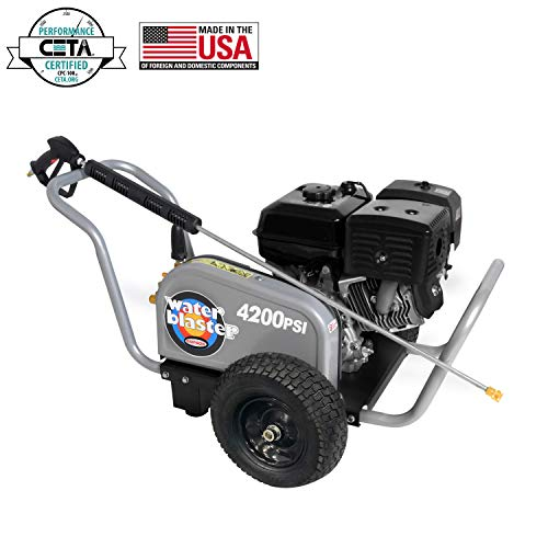 (SIMPSON Cleaning Simpson 60205 WaterBlaster 4200 PSI 4.0 GPM Gas Pressure Washer, Honda, 3.5, Black)