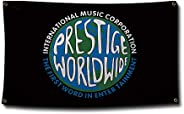 NICMIKOS Prestige Worldwide Flag Banner for Man Cave Wall College Dorm Room Decor,Parties with 4 Brass Grommet