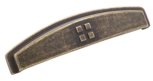 Amerock BP4453R2 Forgings 3 in (76 mm) Center-to-Center Weathered Brass Cabinet Cup Pull