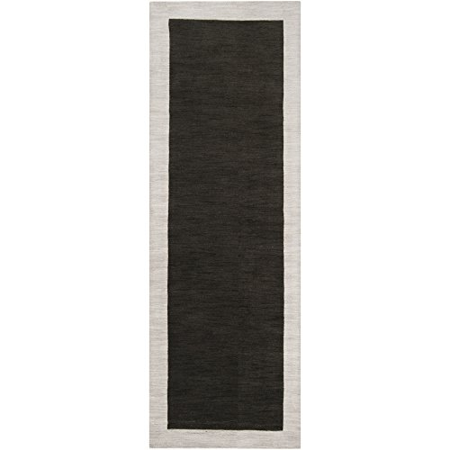 angelo:HOME by Surya Madison Square MDS-1004 Transitional Hand Loomed 100% Wool Black Olive 2'6