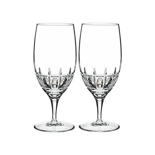 Marquis by Waterford Harper Iced Beverage, Pair, 13oz, Clear (Gold Crystal Stemware)