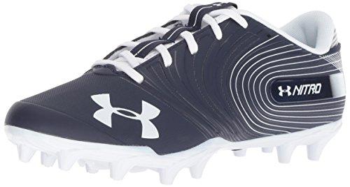 Under Armour Men's Nitro Low MC Football Shoe, Midnight Navy (401)/White, 12