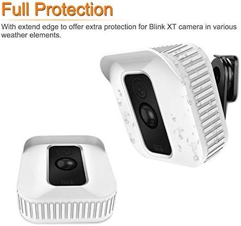 Custodia Protettiva per Videocamera in Camuffamento Impermeabile Blink XT Home Indoor Telecamera per Esterni Nero 3 PACK Fintie Custodia in Silicone per Videocamera Blink XT,