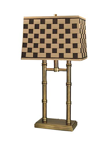 Dale Tiffany PT60348 Laredo Table Lamp, Antique Brass and Fabric Shade