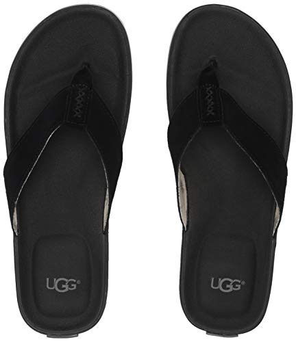 UGG Men's Beach FLIP Flop, Black, 10 Medium US