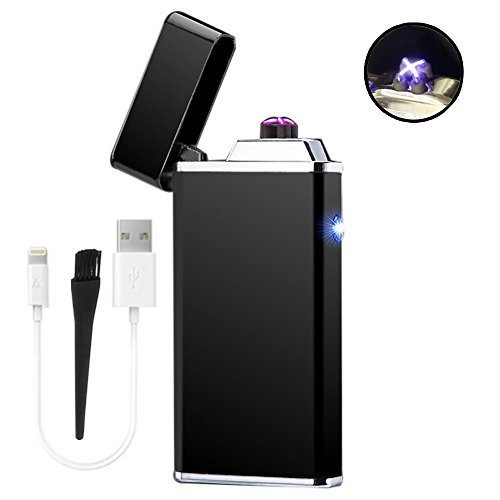 Premium Electric Dual Arc X Beam Pulse Lighter By AMP Windproof Flameless USB Rechargeable Plasma Coil lighter 2 Designs