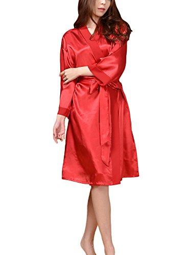 Spa Per Party Rosso Abito In Accappatoio Kimono Accappatoi Compleanno Pigiameria Donne Matrimonio GGTFA Azq088